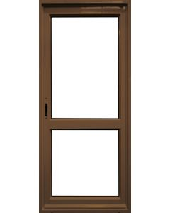 GLASS PANEL MIDRAIL ALUMINIUM BRONZE DOOR 890x2090