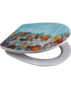 SUPERSEATS GTS65942 3D SEASHELL COLLECTION TOILET SEAT