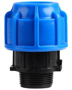 MARLEY #511.40E HDPE COMPRESSION MALE ADAPTOR 40MMX1.25 IN