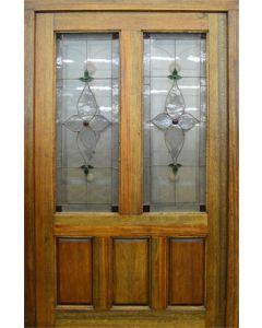 IRENE LEADED PIVOT GLASS 1350X2100MM DOOR