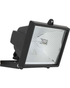EUROLUX FS18B 500W FLOODLIGHT WITH TUBE BLACK