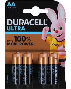 DURACELL DUR017 ULTRA POWER AA BATTERY PACK OF 4
