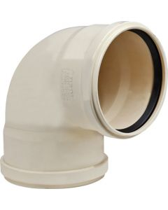 MARLEY PIPES UB62S24165 PVC 87.5° DOUBLE SOCKETED PLAIN BEND 160MM