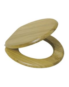 SPLASHWORKS TSOAK/WCH OAK WOOD TOILET SEAT