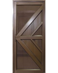 ALUMINIUM DOOR BRONZE 900X2100 ARROW