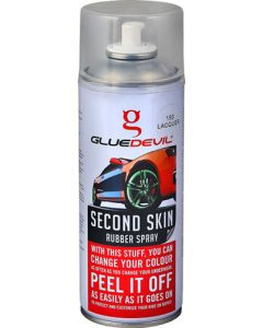 GLUEDEVIL CLEAR LACQUER SECOND SKIN RUBBER SPRAY 400ML