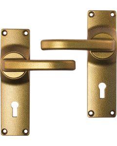 FORT KNOX HANDLE DOOR FURN ALU GOLD