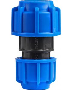 HDPE COMPRESSION COUPLING 25X20MM
