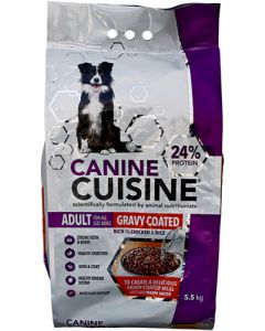 CANINE CUISINE ADULT GRAVY COATED DOG FOOD 5.5KG