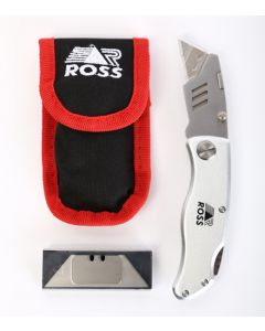 ROSS F4000 KNIFE FOLDING WITH POUCH AND BLADES