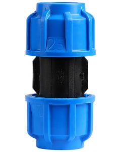MARLEY #510.250 HDPE COMPRESSION STRAIGHT COUPLING 25MM