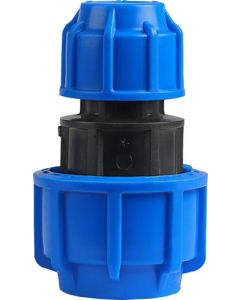 HDPE COMPRESSION COUPLING 32X20MM