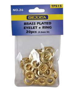Dejuca TP515 Brass Plated Eyelet + Ring 20-Pack