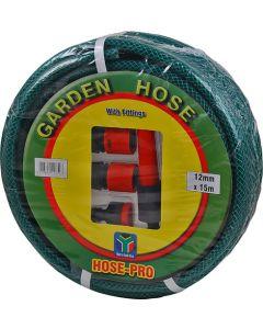 HOSE-PRO 12015EF ECONO HOSE PIPE 12MMX15M + FITTINGS