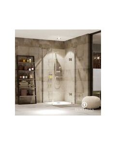 PRIMA BELLA 6009GS MODICA FRAMELESS SQUARE HINGED SHOWER 900X900MM