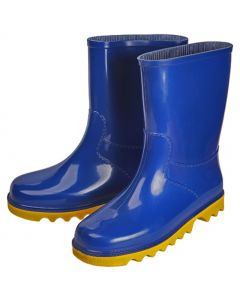PROCON KIDS ANKLE LENGTH GUMBOOTS BLUE/YELLOW