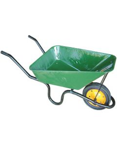LASHER BUILDERS WHEELBARROW CONCRETE GREEN HEAVY DUTY