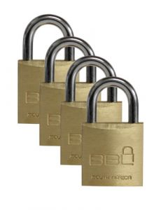 BBL PADLOCK 20MM LUGGAGE 4PACK