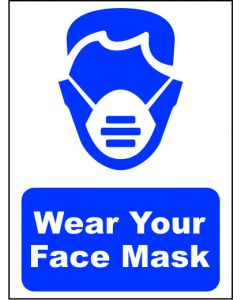 WEAR A FACE MASK SIGN 290x400MM