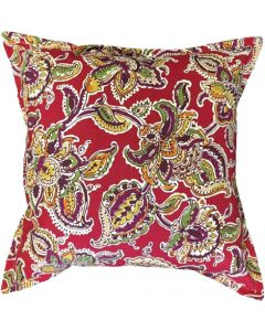 GREY GARDENS SCARLET FLOWER SCATTER CUSHIONS