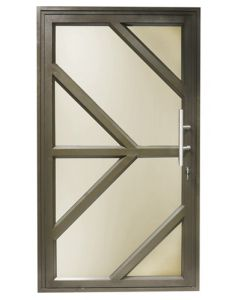 IBUILD PDPAT1221BLH PATTERN 1190X2090 GLAZED ALUMINIUM PIVOT DOOR