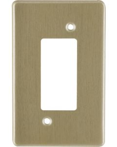 EUROLUX CT2445/215 ISOLATOR COVER PLATE GOLD