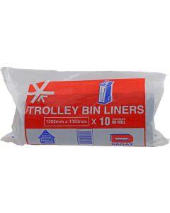 K&K BG/1200 TROLLEY BIN LINERS REFUGE BAG PACK OF 10