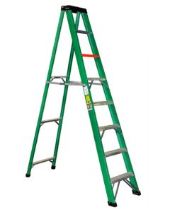 CASTER&LADDER FGS8-N COMMERCIAL FIBERGLASS STEP LADDER 2.4M