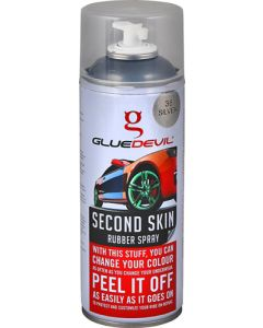 GLUEDEVIL SILVER SECOND SKIN RUBBER SPRAY 400ML