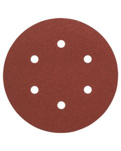 Bosch 2608605089 6-Holes Wood and Paint 120 Grit 150mm Sanding Disc  - Pack of 5