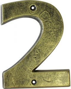 ALESSA ANTIQUE GOLD NUMERAL 2 (200MM)