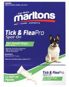 MARLTONS TICK & FLEAPRO SPOT-ON SMALL DOGS 0.67ML