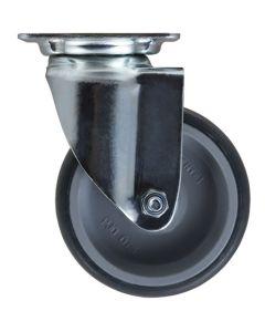 Castor&ladder PK-N11 Rubber Swivel Plate Castor 75mm