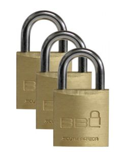 BBL PADLOCK 20MM LUGGAGE 3PACK