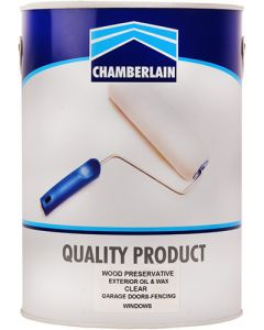CHAMBERLAIN WOOD PRESERVATIVE & WAX CLEAR 5L