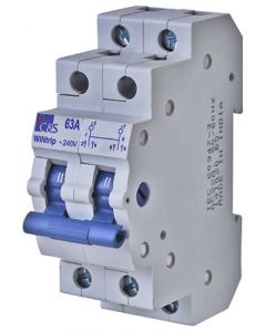ACDC SF2P-63A 2 Pole 63A Din Changeover switch