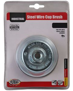 Ruwag RCBC15014 Mounted Wire Cup Brush 150 x 14 x 0.35mm