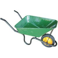 LASHER GREEN HEAVY DUTY BUILDERS CONCRETE WHEELBARROW