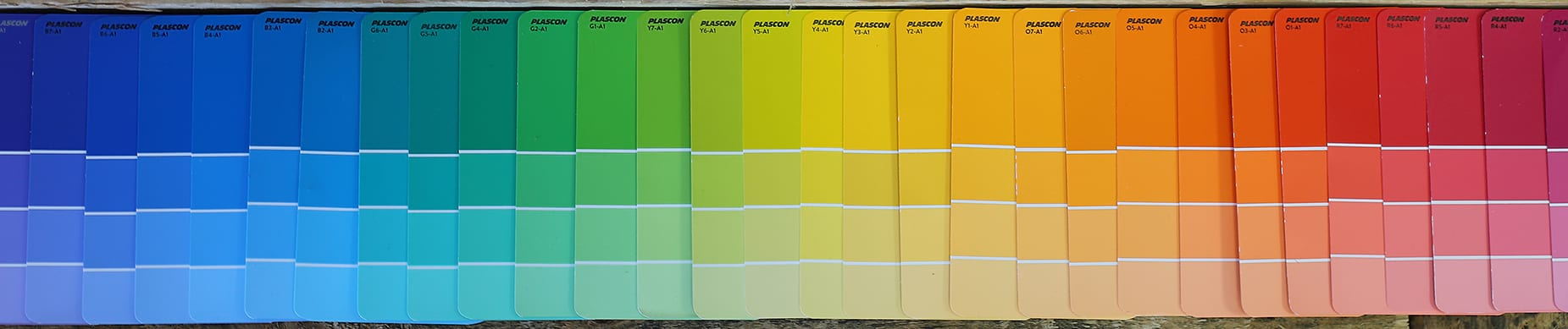 Variety of paint colours
